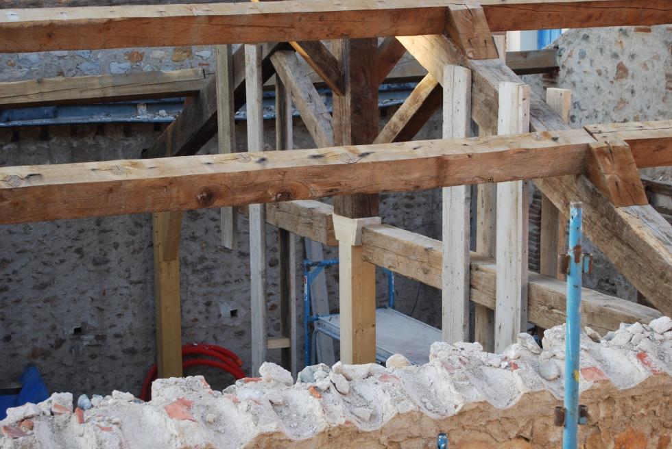 semaine 15 modification de la charpente la grange loft. Black Bedroom Furniture Sets. Home Design Ideas