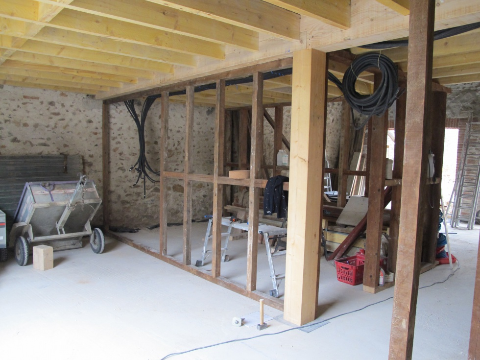 Semaine 29 pose du plancher la grange loft d 39 athayuyu - Renovation de grange ...